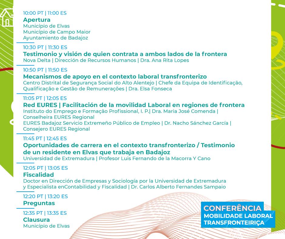 Galeria de Fotos - Conferência Mobilidade Laboral Transfronteiriça   15 junho   10:00 PT 11:00 ES